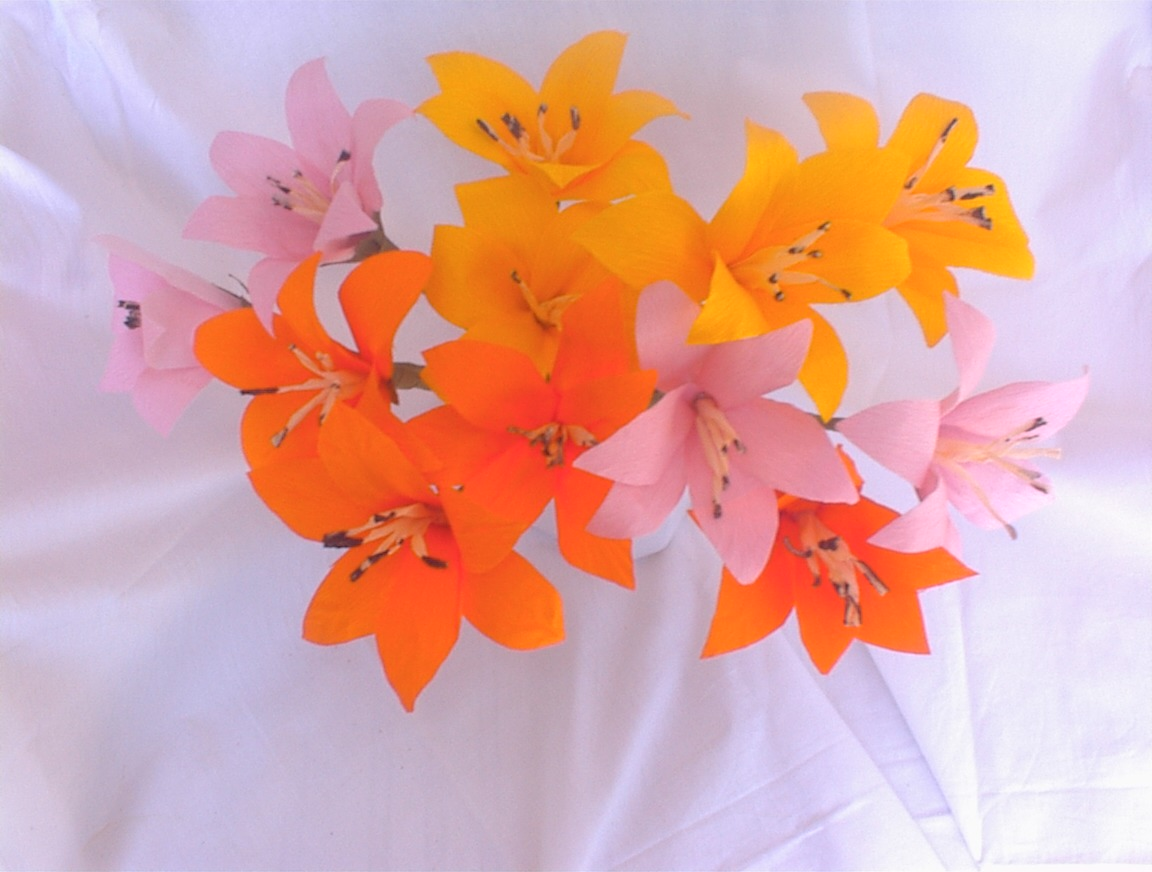 How To Make Artificial Flower With Paper Engneforic